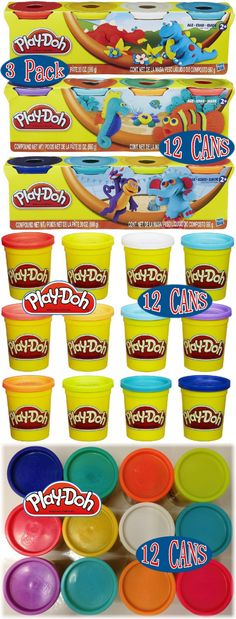 Play-Doh Modeling Clay 11740: Play-Doh 4-Pack Of Colors, 3-Packs (12 Cans Total) -> BUY IT NOW ONLY: $30.99 on eBay!