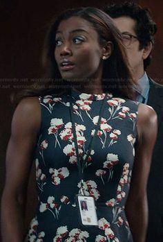 Daisy's black floral peplum top on Madam Secretary.  Outfit Details: http://wornontv.net/40099/ #MadamSecretary