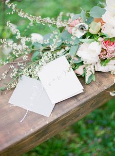 Calligraphy Notebooks for the Wedding Vows | Julie Paisley Photography | http://heyweddinglady.com/southern-spring-blossom-wedding-inspiration/
