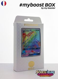 Coffret #myboost EKAISER GX Secrete arc en ciel 159/145 Contient 10 cartes Pokemon francaises Soleil et Lune 2 neuves dont : - la carte EKAISER GX Secrete arc en ciel 159/145 240PV de la serie Soleil&Lune 2 - 1 carte Holographique ou Reverse - 1 carte 100PV - 1 carte 90PV - 1 carte 80PV my-booster, l offre POKEMON PREMIUM