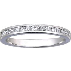 Petite Channel Set Princess Diamond Ring (1/3 ct.tw.).  Beautiful alone or with any princess diamond engagement ring.