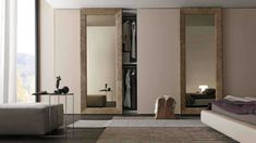 Sliding mirror closet doors for bedrooms - Mirrored closet sliding doors can help make your room look larger and is a unique element in your home decor. Bedroom Cupboard Designs, Wardrobe Design Bedroom, Bedroom Cupboards, Bedroom Doors, Bedroom Furniture, Furniture Design, Mirror Furniture, Wardrobe Furniture, Bedroom Designs