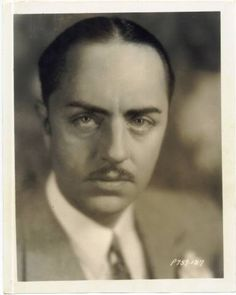 Late 1920's William Powell, silent and sound movie actor (The Thin Man, The Great Ziegfield) was married to Carole Lombard 1892-1984