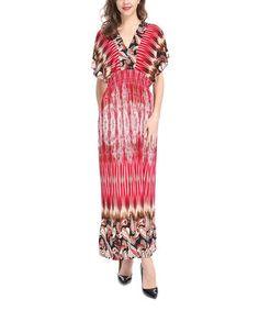 Look at this #zulilyfind! Red Paisley Maxi Dress - Plus #zulilyfinds
