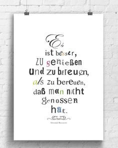 Poster mit Spruch über das Leben / art print with quote about life made by  bunte bilder shop via DaWanda.com