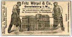 Original-Werbung/ Anzeige 1903 : EISENGUSS / GRAUGUSS / FRITZ WÜRPEL GEVELSBERG - ca  100 x 50 mm