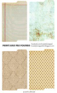 Printable File Folders