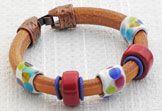 Clown Car Regaliz™ Leather Bracelet @ antelopebeads.com