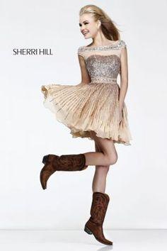 a1c6691eb6 Sherri Hill 8518  IPAProm Homecoming Fall with those fashion statement cowboy  boots Sherri Hill Prom