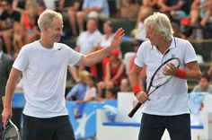 Bjorn Borg y John Mc Enroe jugando dobles