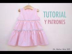 Oh mother mine. Kids Summer Dresses, Toddler Girl Dresses, Little Girl Dresses, Girls Dresses, Kids Clothes Patterns, Baby Dress Patterns, Toddler Fashion, Kids Fashion, Baby Dress Design