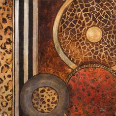 African Circles I Impressão artística