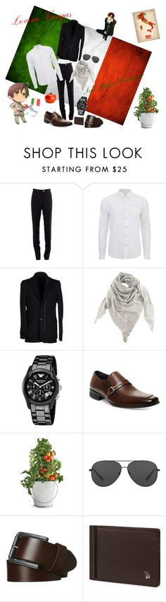 """""""Sud Italia Romano"""" by meingottstopp19 ❤ liked on Polyvore featuring Thom Browne, Scotch & Soda, Maison Margiela, Black, Giorgio Armani, Steve Madden, Potting Shed Creations, GAS Jeans, Michael Kors and Rip Curl"""