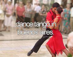 dance tango in buenos aires (bucket list)