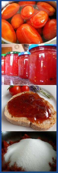 Mermelada de tomate casera la mas Dulce y facil del mundo! #mermelada #dulces #tomate #tomato #tomatoes #cheesecake #postres #dulces #tips #cake #pan #panfrances #panettone #panes #pantone #pan #recetas #recipe #casero #torta #tartas #pastel #nestlecocina #bizcocho #bizcochuelo #tasty #cocina #chocolate Si te gusta dinos HOLA y dale a Me Gusta MIREN … Dessert Drinks, Paleo Dessert, Jam Recipes, Sweet Recipes, Bien Tasty, Arabian Food, Jam And Jelly, Appetizer Salads, Sweet Sauce