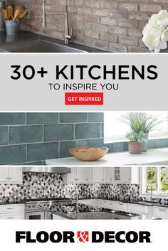 Kitchen backsplashes, flooring, and more. Regardless of your style, get inspired with these 30 kitchen spaces. Kitchen Redo, Home Decor Kitchen, Kitchen Backsplash, Interior Design Living Room, Kitchen Remodel, Kitchen Cabinets, Kitchen Cupboard, Kitchen Ideas, Walnut Kitchen