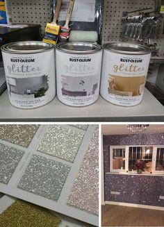 Rust-Oleum glitter paint #GlitterDecorations #GlitterPaint