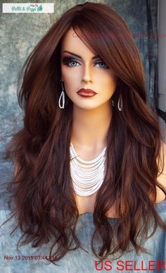 LONG SLIGHTLY WAVY WIG HEAT SAFE SKIN TOP☆CLR FS6.30 GORGEOUS STRIKING STYLE 368 | Health & Beauty, Hair Care & Styling, Hair Extensions & Wigs | eBay!