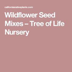 Wildflower Seed Mixes – Tree of Life Nursery