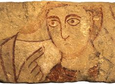 Painted stone mural from Old Minster, Winchester, where Egbert was crowned.