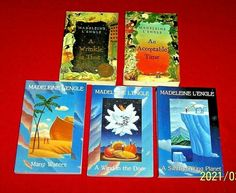5 Chapter Books A Wrinkle in Time Quintet Series Madeleine L'Engle