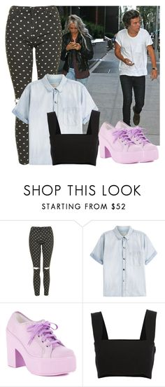 """""""Meet Harry w/ Lou"""" by talkativebluebananaxx ❤ liked on Polyvore featuring Topshop, Current/Elliott, Shellys and Yves Saint Laurent"""
