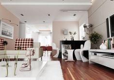 iluminacion indirecta led salon con diseño blanco