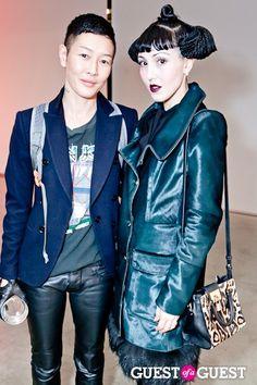 Michelle Harper & Jenny Shimizu / futuristic hair-do