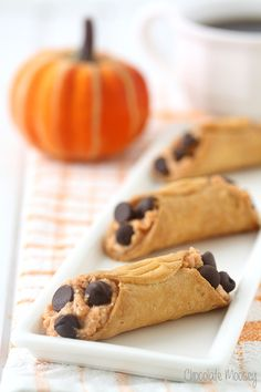 Italy meets fall with these mini Pumpkin Cannolis, which are made easier with pre-made cannoli shells.