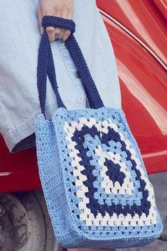 Virkad spetskasse Novita Eco Cotton | Novita knits