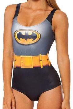 Batman Batgirl One-Piece Swimsuit