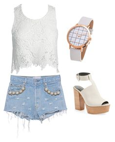 """Untitled #37"" by kristyna-r on Polyvore featuring Forte Couture, Sans Souci and Rebecca Minkoff"