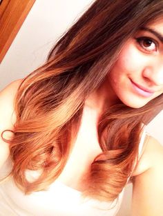 Ombre hair, dark brown to caramel january 16th!