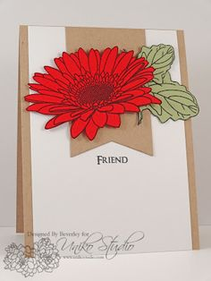 Uniko Studio: 'Krafting' with colour Studio Cards, Homemade Greeting Cards, Gerber Daisies, Gerbera, Clear Stamps, Cardmaking, Daisy, Colours, Pure Products