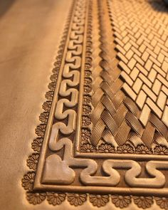 Aztec Border around a Herringbone weave pattern.Quilted leather pattern(在 Trio Leather Art)Arts And Crafts At MichaelsHow To Start Woodworking Business - Home, Work & Health