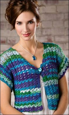 Gulf Coast Shrug crochet pattern from Crochet World June 2013. Order here: http://www.anniescatalog.com/detail.html?prod_id=100880: