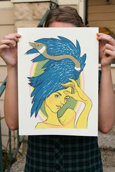 Goose Girl  Limited Edition Screenprint by laurenmoyer on Etsy, $35.00 #goose #screenprint