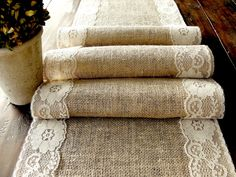 Burlap table runner wedding table runner with by HotCocoaDesign, $23.00