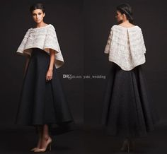 Nice Evening Dresses plus size White Black Krikor Jabotian Evening Dresses 2016 Long Sleeves Short Prom Dresses With Jacket Two Pieces Ankle Length Fashion Formal Dresses White Evening Dresses Long Black Evening Dresses Plus Size From Yate_wedding, $140.21  Dhgate.Com Check more at...