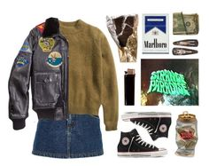 """""""Strange Paradise"""" by junk-food ❤ liked on Polyvore featuring River Island, H&M, Converse and GAS Jeans"""