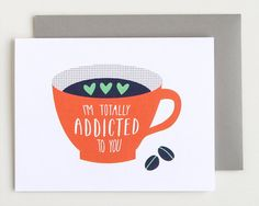 Funny Card. Addicted to You. Greeting Card. Love by PeiDesign, $4.50