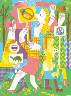 JooHee Yoon People Illustration, Character Illustration, Graphic Illustration, Joohee Yoon, Human Drawing, Journal Stickers, Screenprinting, Bologna, Urban Art