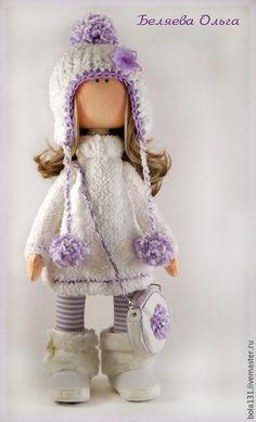 Человечки ручной работы. Ярмарка Мастеров - ручная работа. Купить Интерьерная текстильная кукла. Handmade. Бледно-сиреневый, детская, шерсть