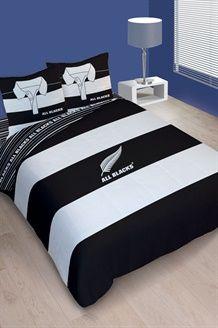 Komplet All Blacks Polo240 x 220 cm - Czerń i Biel