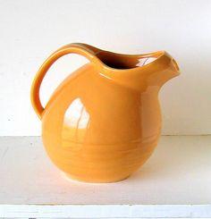 USA Pottery Orange Pitcher 1950's by MARCREST by retrogroovie, $24.00