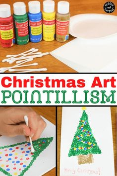 December art projects for kids to decorate your home or to give as gifts or to turn into Christmas cards kids can make. Christmas tree art projects get kids excited about Christmas time and December. #christmas #Christmastree #christmasart #christmascrafts #easychristmasprojects #easychristmascrafts #decemberartprojectsforkids