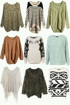 I can't wait for it to get cold again so I can wear sweaters