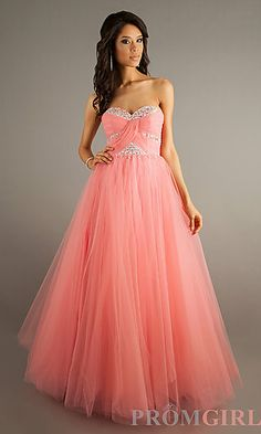 Strapless Sweetheart Floor Length Gown at PromGirl.com