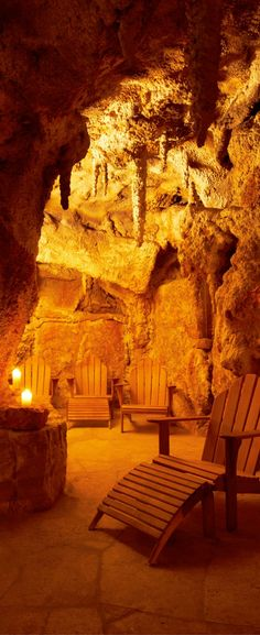 """""""The Cave of the Philosopher"""" Steam bath at Adler Thermae Spa Resort in Tuscany, Italy 