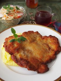 Kid-friendly chicken paillard with mashed potatoes // Peru Delights